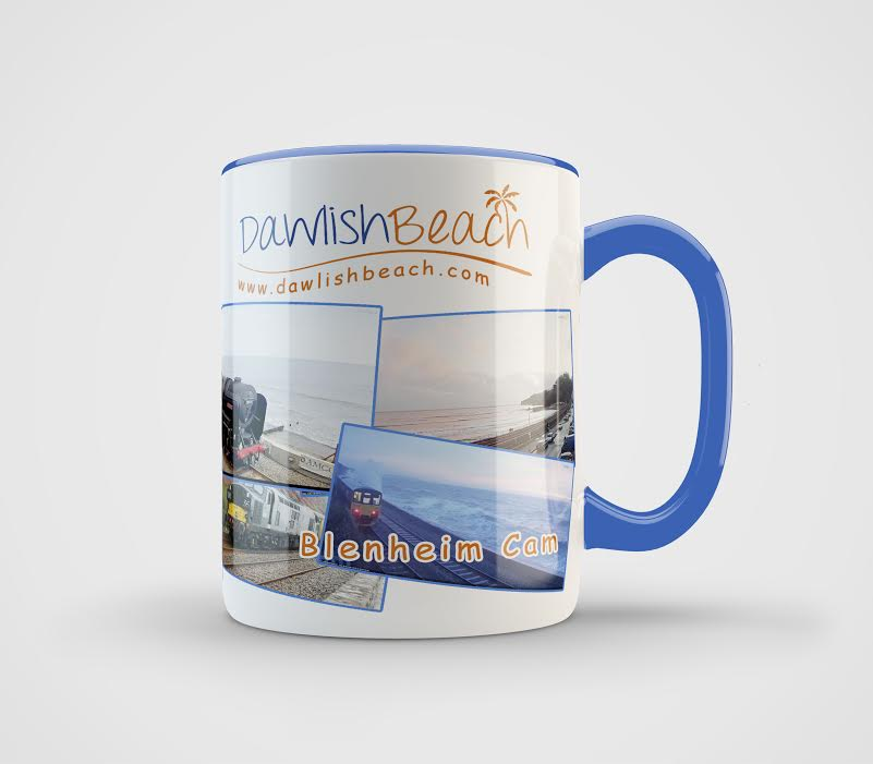 Dawlish Beach Mug Blue