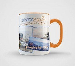 Dawlish Beach Mug Orange