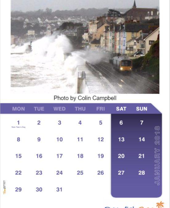 FREE limited edition Dawlish Beach Calendar