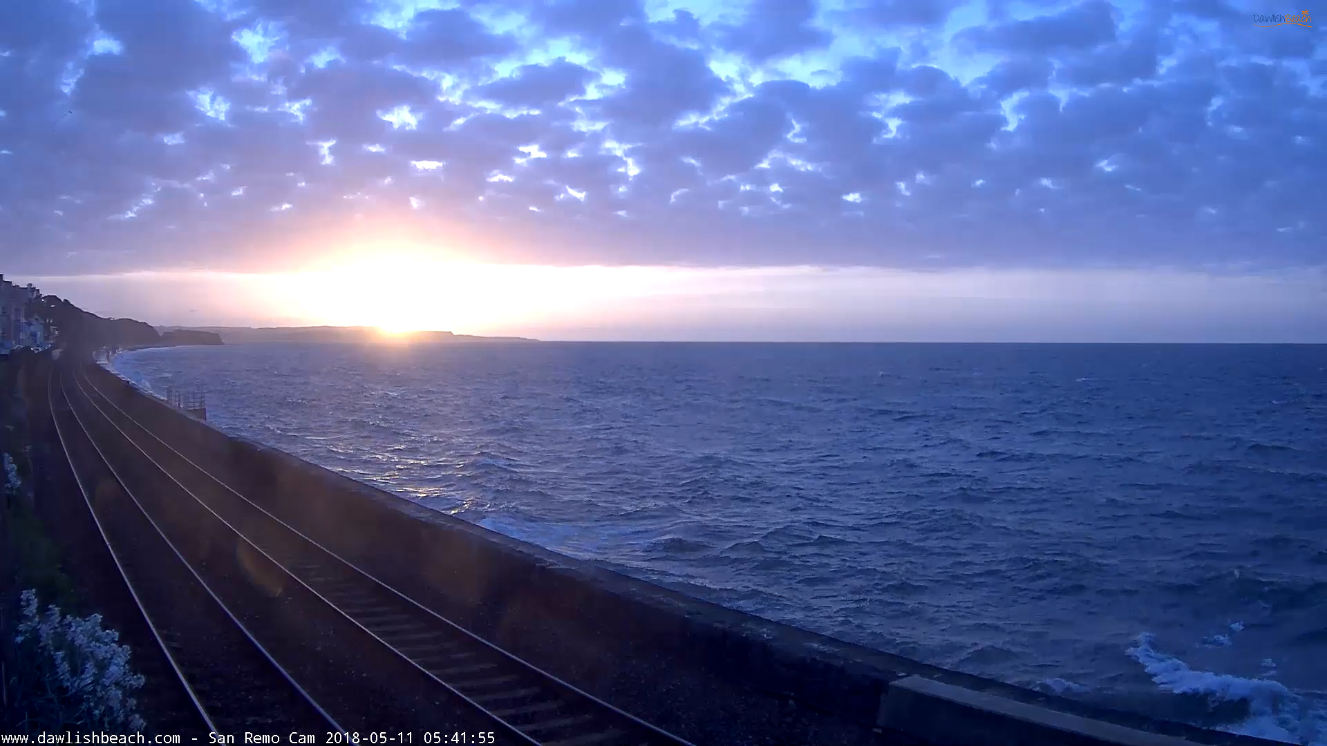 Dawlish Beach Cams San Remo Sunrise