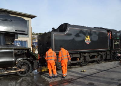 Flying Scotsman and Black Five at Laira Depot