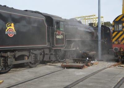 Black Five at Laira Depot