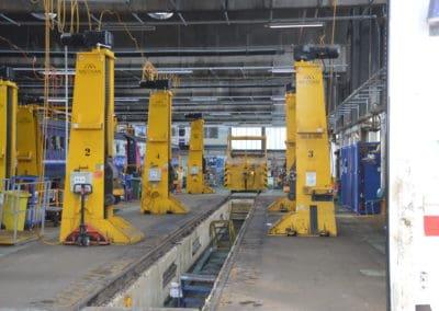 HST Powercar lift at Laira Depot