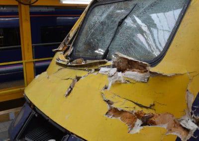 Damaged HST at Laira