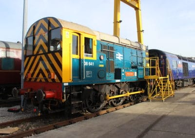 The red Arrows HST at Laira & shunter