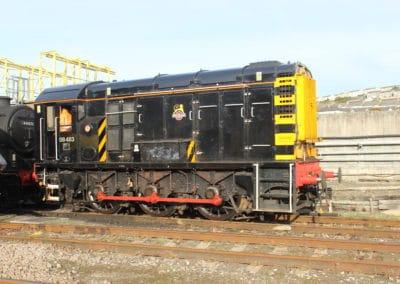 08483 Shunter and Black Five at Laira Depot