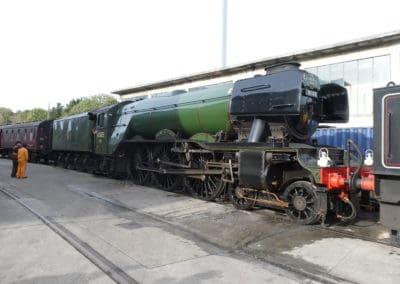 Flying Scotsman at Laira Depot