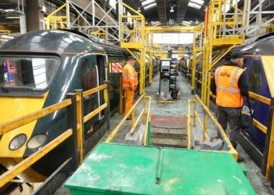 HST Powercars at Laira Depot