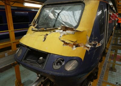 Damaged HST from tree new years eve 2017 at Laira Depot