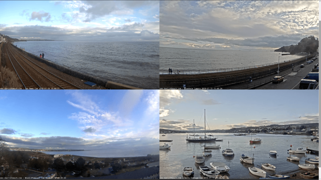 Dawlish Beach Cams Quad Cam Full Screen