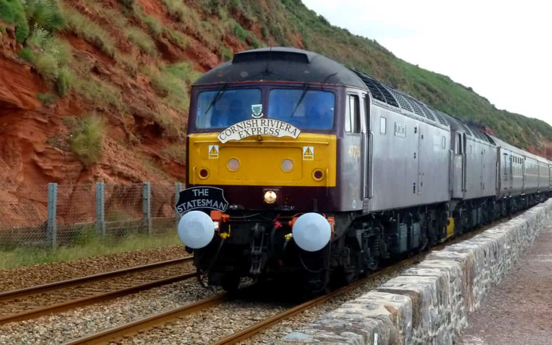 Railway News – Special trains 2019 Passing over the Dawlish & Teignmouth sea walls
