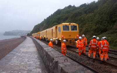 Rail Replacement on Teignmouth sea wall 11th June 2019