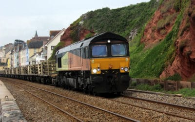 Rail Trains on Dawlish Sea Wall.