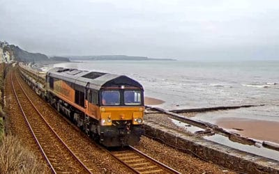 Colas 66848 on Ballast train 24-01-2020
