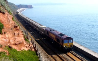 Recent freight trains passing through Dawlish.
