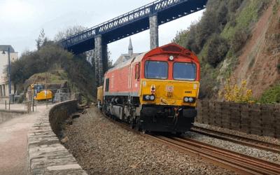 DB Cargo Infrastructure train service.