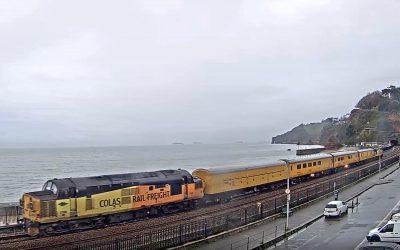 A day's run for a rail test train.