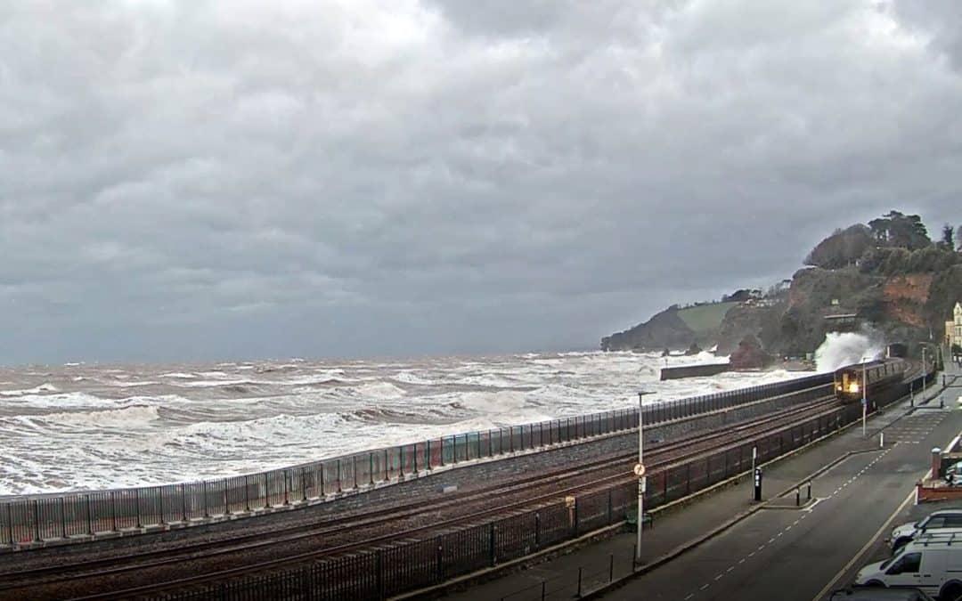 Rough Sea Dawlish 09-02-2021