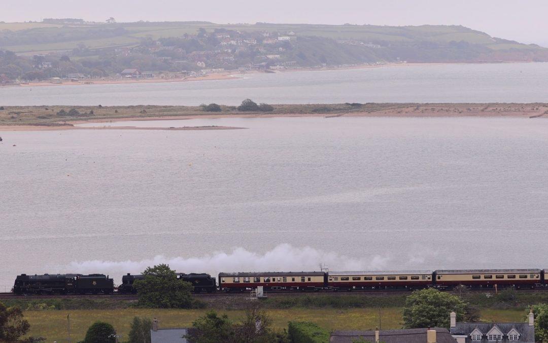 "Saphos Rail Tours ""Devonian Express"" Steam Train"